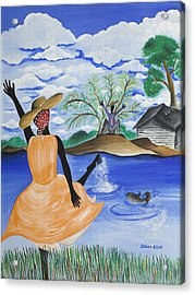 The Welcome River Acrylic Print by Patricia Sabree