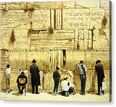 The Western Wall  Jerusalem Acrylic Print by Graham Braddock