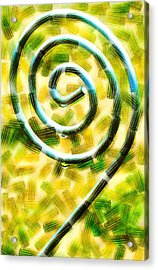 The Wet Whirl  Acrylic Print by Steve Taylor