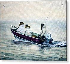 The Whale Hunters Acrylic Print
