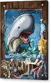 Acrylic Print featuring the painting The Whale by Reynold Jay