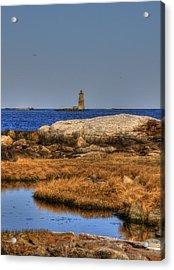 The Whaleback Lighthouse Acrylic Print by Joann Vitali