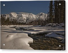 The Wheaton River Valley Lit By The Acrylic Print by Robert Postma