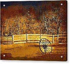 The Wheel And The Fence Acrylic Print
