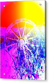 I Have A Wheel Of Colors But It's Standing Still  Acrylic Print by Hilde Widerberg