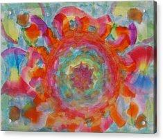 Acrylic Print featuring the painting The Wheel by Thomasina Durkay