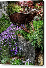 Acrylic Print featuring the photograph The Whimsical Wheelbarrow by Thom Zehrfeld