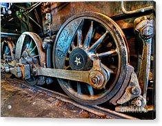 The Wheels On The Engine.... Acrylic Print