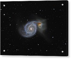 The Whirlpool Galaxy Acrylic Print by Brian Peterson