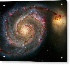 The Whirlpool Galaxy M51 And Companion Acrylic Print by Don Hammond