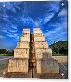 Acrylic Print featuring the photograph The White City by Ron Shoshani