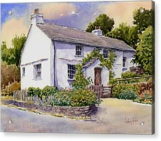 The White Cottage Acrylic Print by Anthony Forster