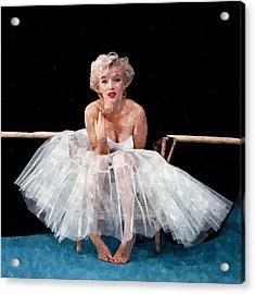 The White Dress Of Marilyn Acrylic Print by Florian Rodarte