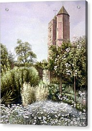 Acrylic Print featuring the painting The White Garden by Rosemary Colyer