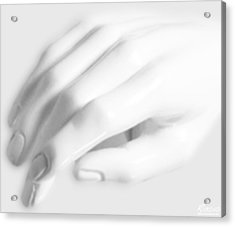 The White Hand Acrylic Print by Tony Rubino