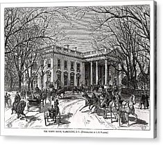 The White House 1877 Acrylic Print by Charles Somerville