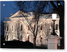 Acrylic Print featuring the photograph The White House At Dusk by Cora Wandel