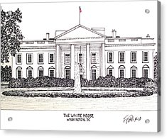 The White House Acrylic Print by Frederic Kohli