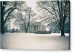 The White House In Winter Acrylic Print by Mountain Dreams