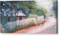The White Picket Fence Acrylic Print