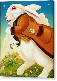 The White Rabbit, 2003 Acrylic Print by Frances Broomfield