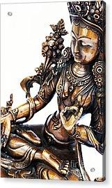 The White Tara Acrylic Print