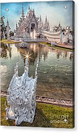 The White Temple Acrylic Print
