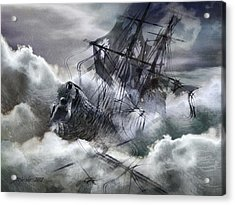 The White Wave Acrylic Print by Stefano Popovski