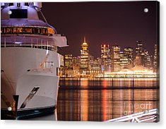 The White Yacht Acrylic Print