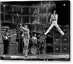 The Who - A Pencil Study - Designed By Doc Braham Acrylic Print