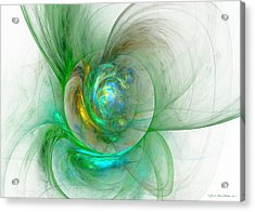 The Whole World In A Small Flower Acrylic Print by Sipo Liimatainen