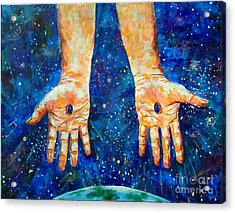 The Whole World In His Hands Acrylic Print