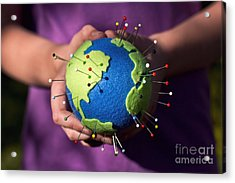 The Whole World In Your Hands Acrylic Print by Catherine MacBride