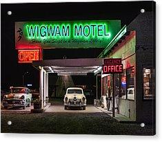 The Wigwam Motel Neon Acrylic Print