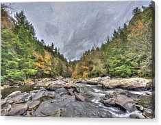 The Wild River Oil Painting Acrylic Print