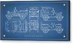 The Willys Jeep Acrylic Print by Mark Rogan