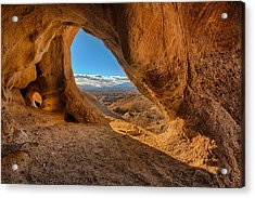 The Wind Caves Acrylic Print by Peter Tellone