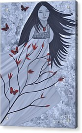 The Wind Of The Spirit Acrylic Painting By Saribelle Rodriguez Acrylic Print