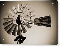 Acrylic Print featuring the photograph The Windmill by Amber Kresge