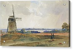 The Windmill Acrylic Print by Peter de Wint