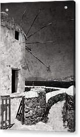The Windmills Of Mykonos 3 Acrylic Print by Laura Melis