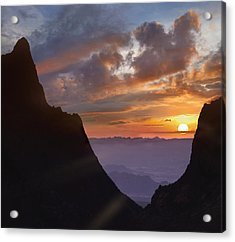 Acrylic Print featuring the photograph The Window At Sunset Big Bend Np Texas by Tim Fitzharris