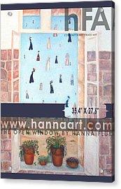 The Window Acrylic Print by Hanna Fluk