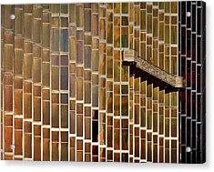 The Windows Cleaner Acrylic Print by Roberto Parola