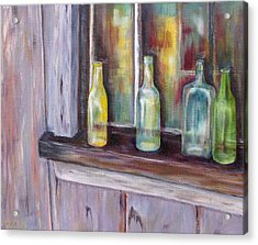 Acrylic Print featuring the painting The Windowsill by Diane Daigle