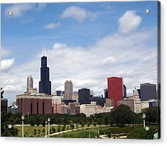 The Windy City Acrylic Print by Teresa Schomig