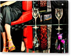 The Wine Bar Acrylic Print by Diana Angstadt