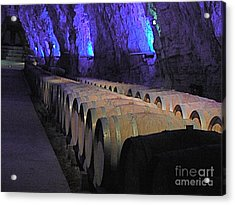 The Wine Cave Acrylic Print by France  Art