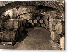 The Wine Cave Acrylic Print by Jon Neidert