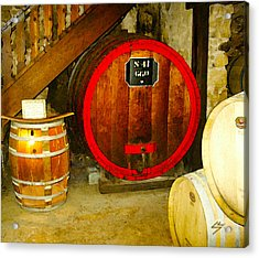 The Wine Cellar Acrylic Print by Sotiri Catemis